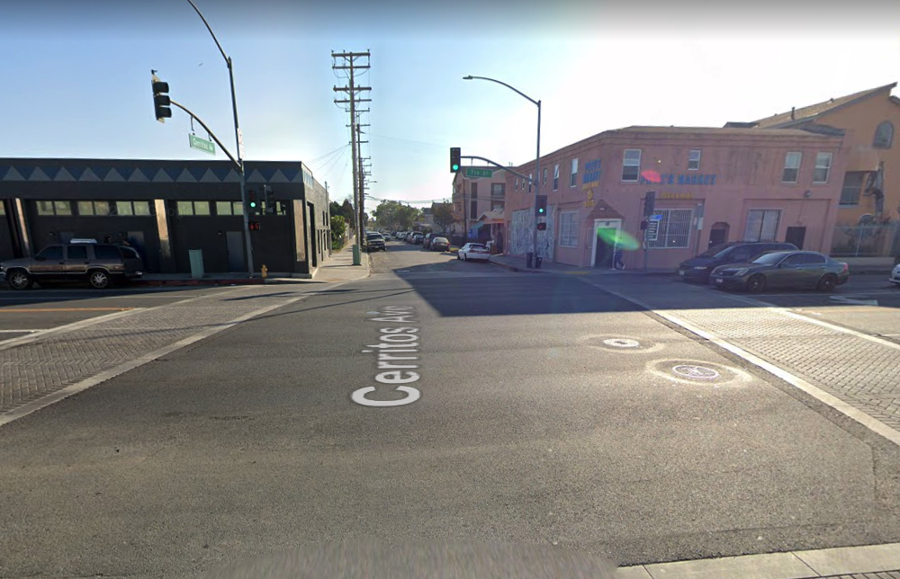 The 700 block of Cerritos Avenue in Long Beach is shown in a Google Street View image.