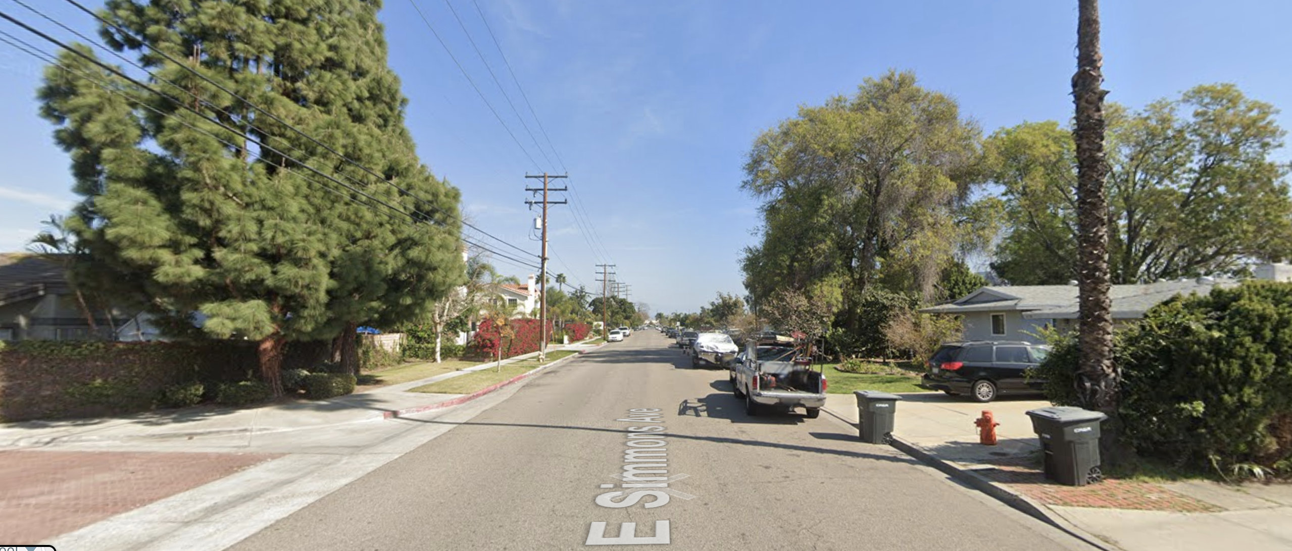 The 13000 block of Simmons Avenue in Garden Grove is seen in a Google Maps street view photo.