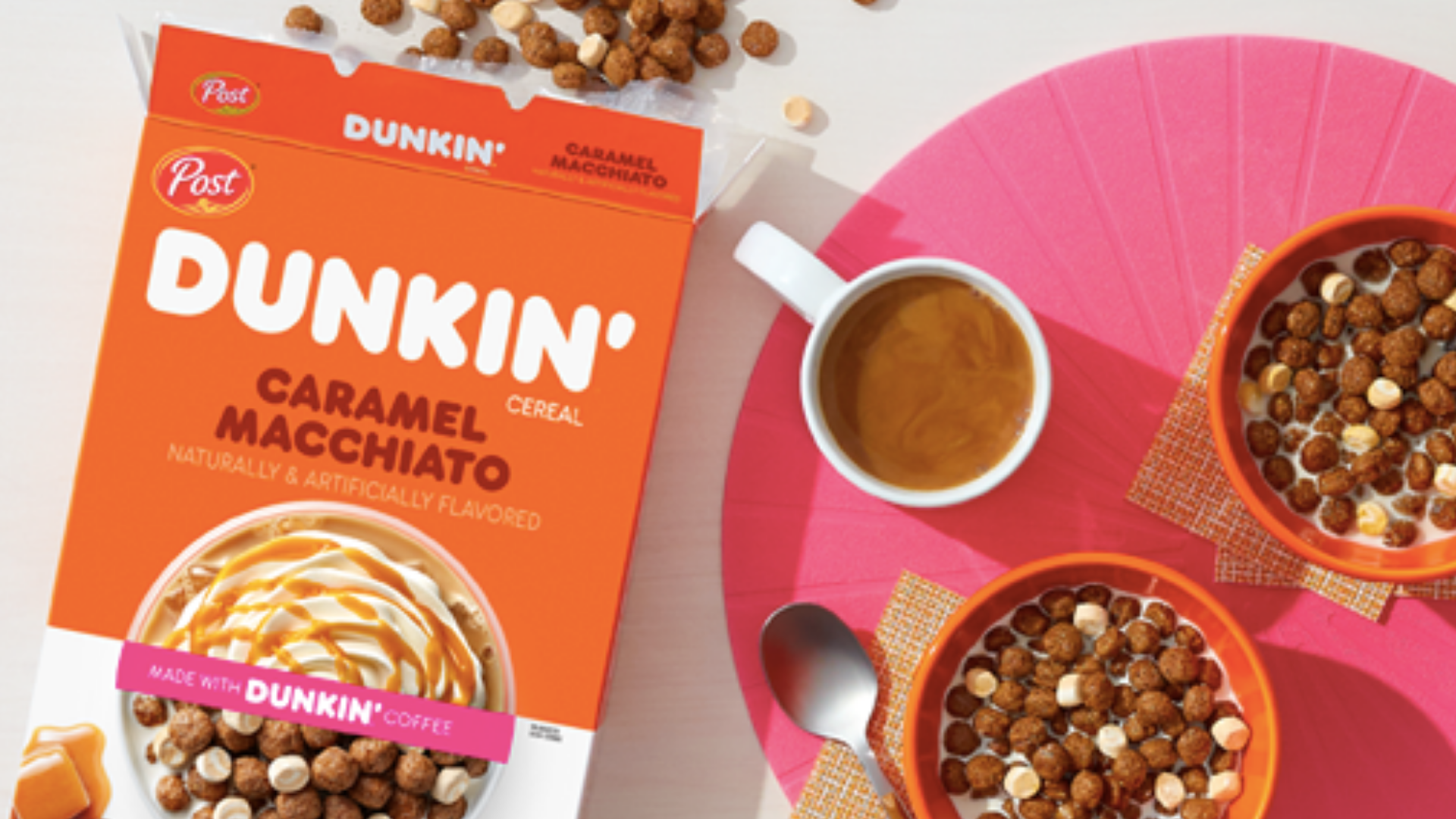 Dunkin' cereal is seen in an image from the brand's website in August 2020.
