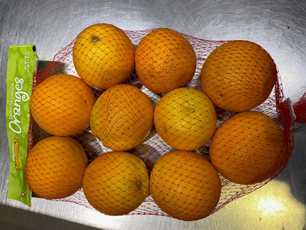 Recalled oranges seen in a photo released by the FDA on Aug. 9, 2020.