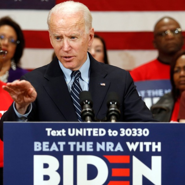 In this file photo from March 10, 2020, Democratic presidential candidate, former Vice President Joe Biden speaks at a campaign event in Columbus, Ohio. (AP Photo/Paul Vernon, File)