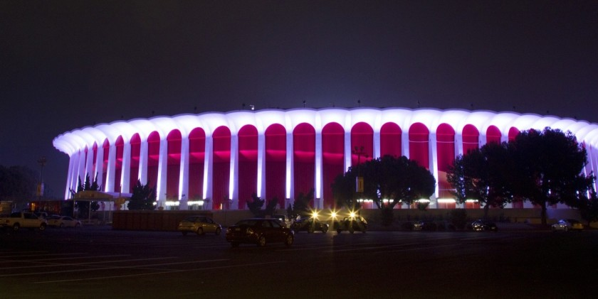 The Forum in Inglewood appears in this undated photo. (Gina Ferazzi / Los Angeles Times)