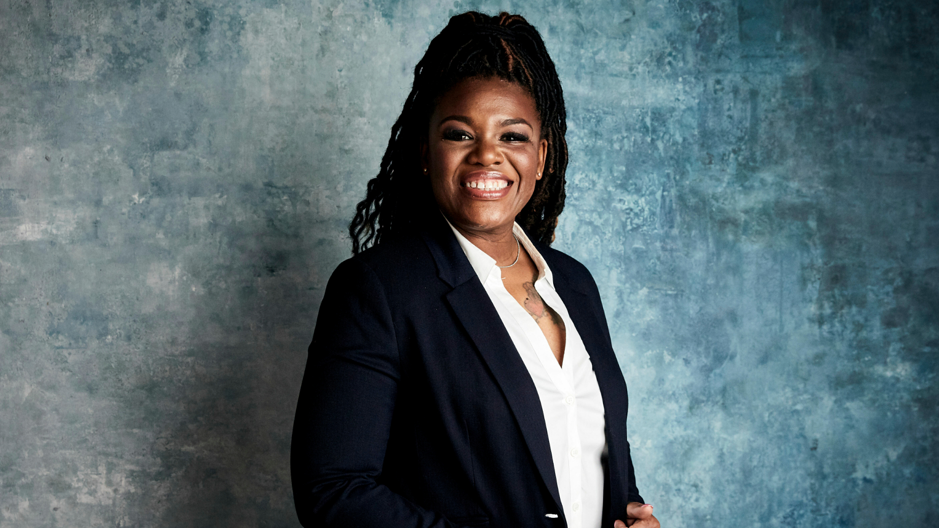 "Cori Bush poses for a portrait to promote the film ""Knock Down the House"" during the Sundance Film Festival in Park City, Utah, on Jan. 27, 2019. (Taylor Jewell / Invision / Associated Press)"