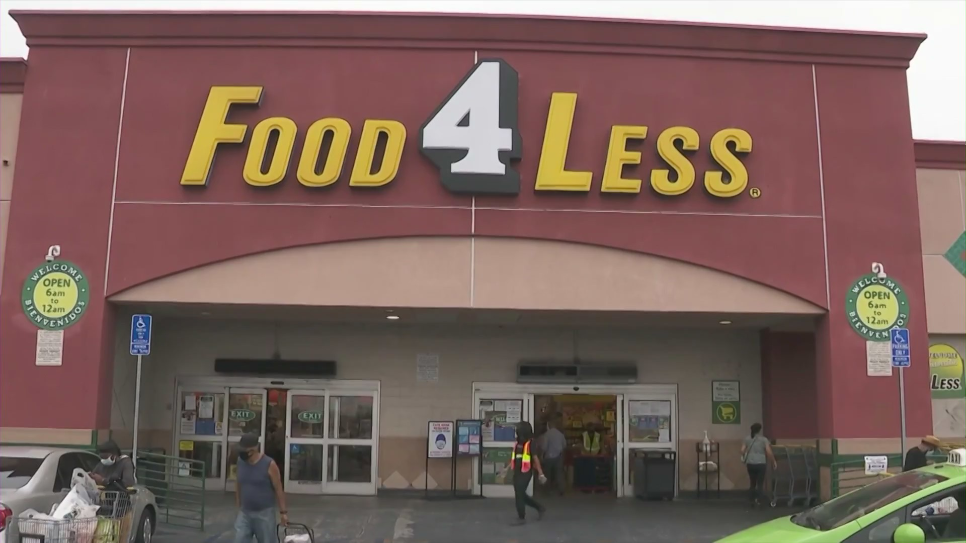 A Food4Less location on 1700 W. Sixth St. in the Westlake District is seen on Aug. 10, 2020. (KTLA)