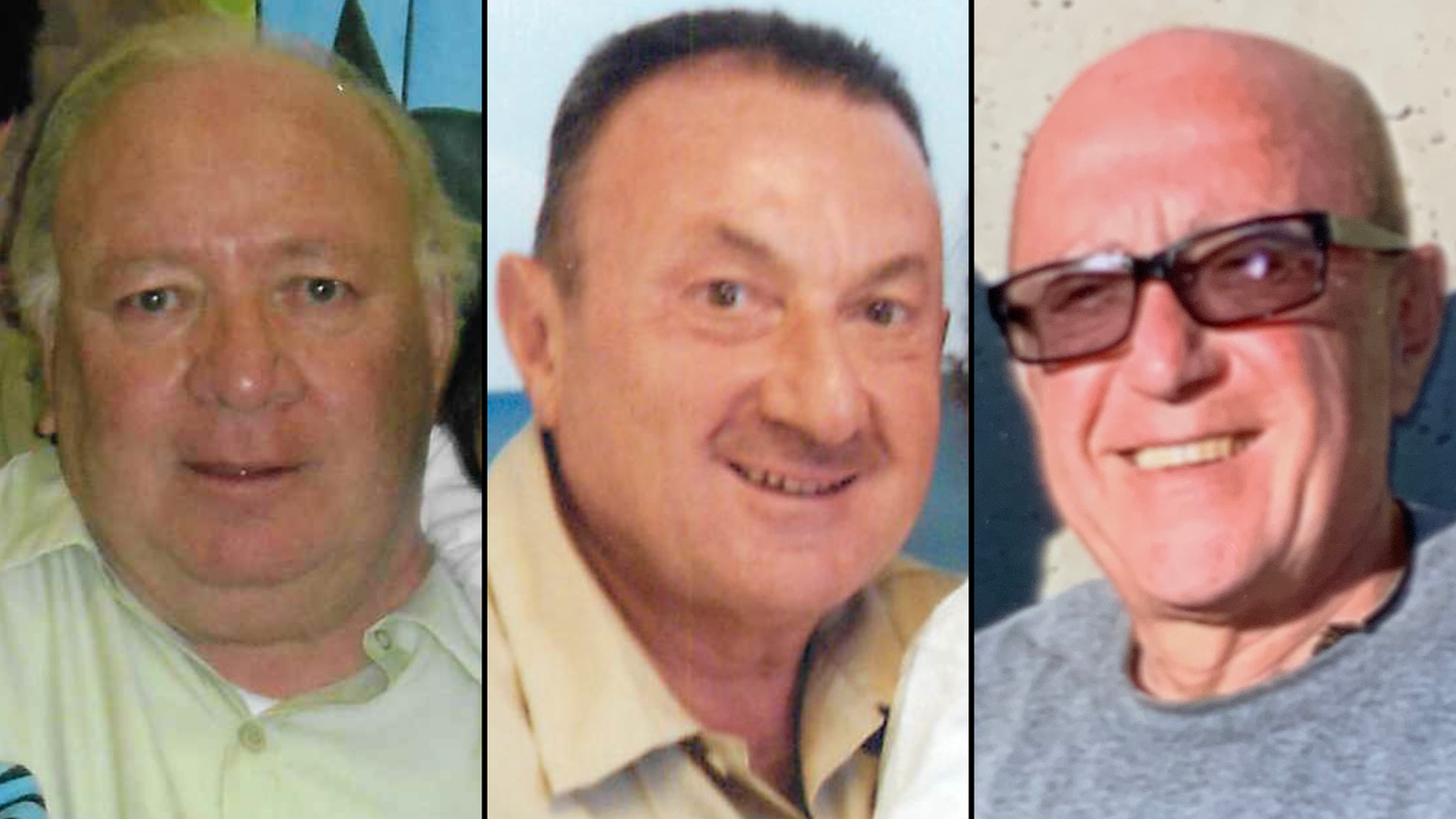 From left, Juan Carlos Seresi, Vahe Andonian and Nazareth Andonian. These men received 500-plus years for drug charges. (Patti Mawer/Jerry Newton/Andonian family via CNN)