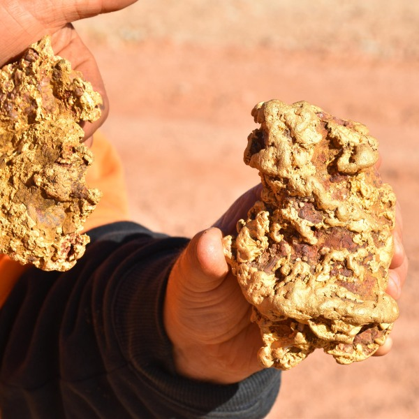 The nuggets have been valued at $250,000. (Aussie Gold Hunters/Electric Pictures/Discovery Channel)