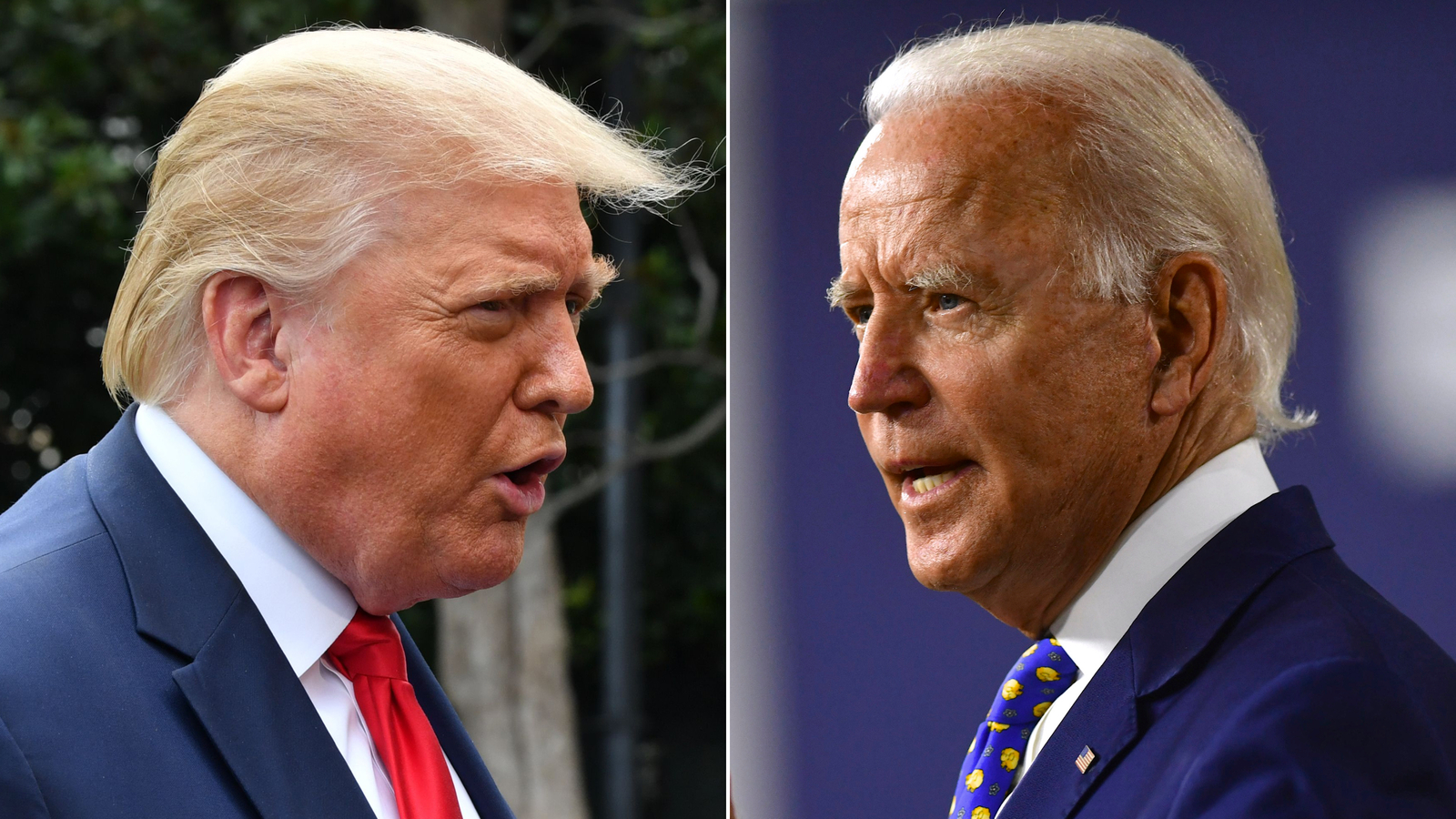 Joe Biden's lead over Donald Trump among registered voters has significantly narrowed since June, according to a CNN poll conducted by SSRS in August 2020. (Getty Images)