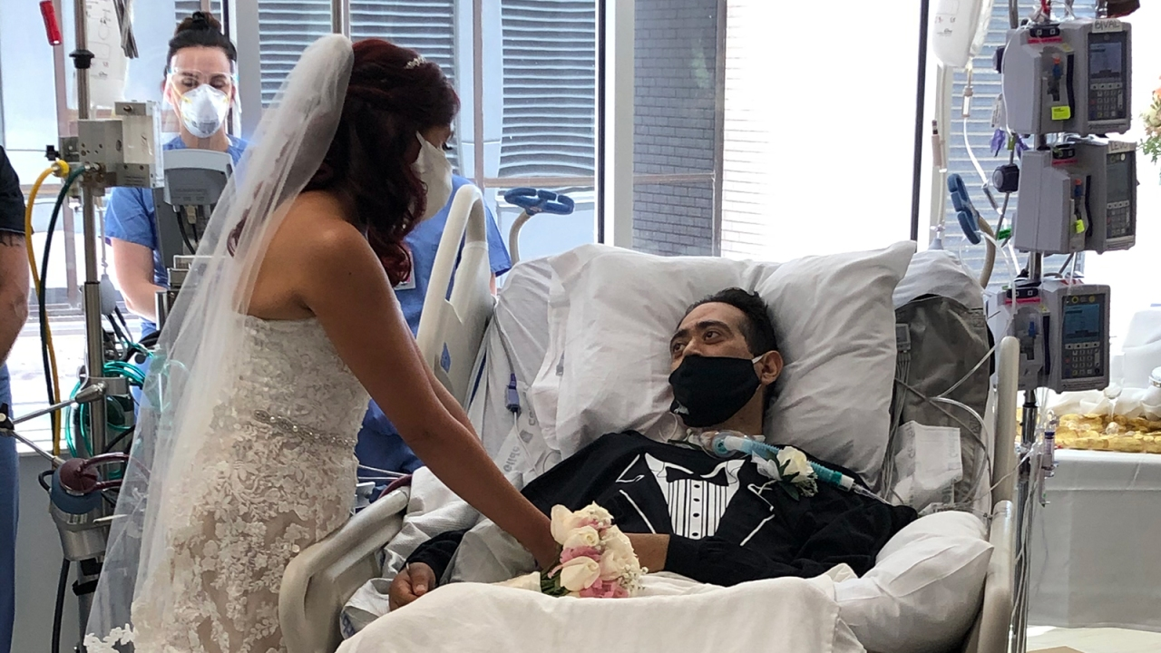 Nurses in Texas hospital organize wedding for man hospitalized with COVID-19 the same week his nuptials were to take place