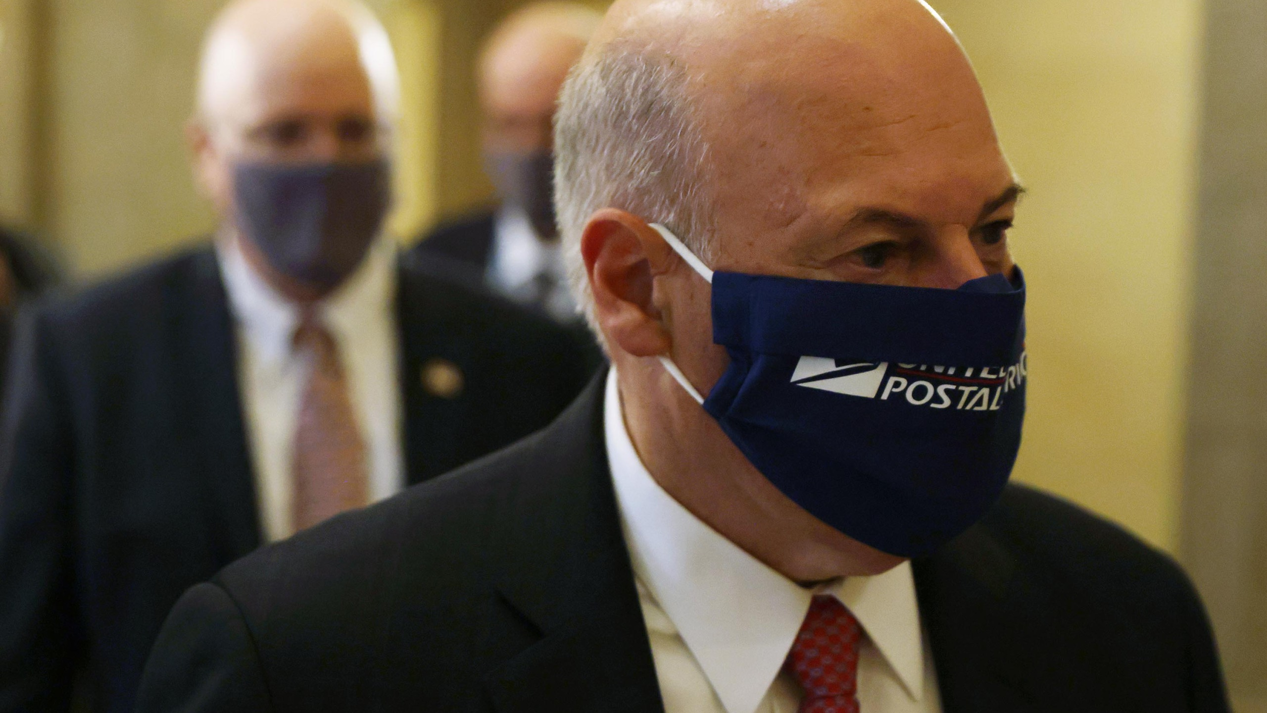 U.S. Postmaster General Louis Dejoy arrives at a meeting at the office of Speaker of the House Rep. Nancy Pelosi (D-CA) at the U.S. Capitol August 5, 2020 in Washington, DC. (Alex Wong/Getty Images)