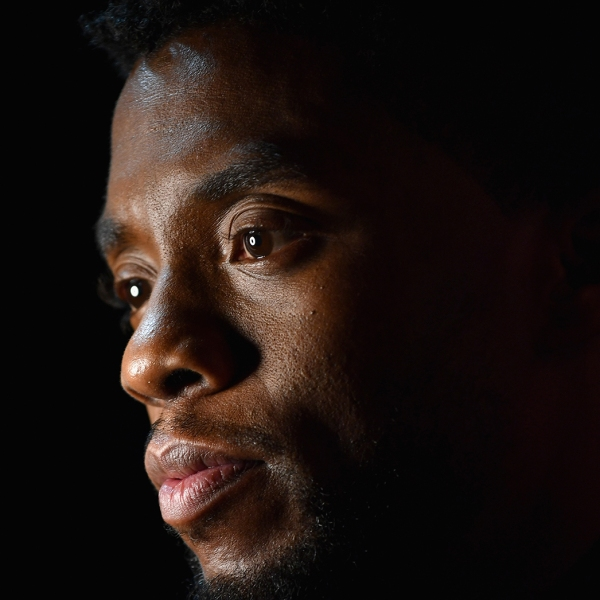 """Chadwick Boseman attends the European Premiere of Marvel Studios' """"Black Panther"""" at the Eventim Apollo, Hammersmith on Feb. 8, 2018, in London, England. (Gareth Cattermole/Getty Images for Disney via CNN)"""