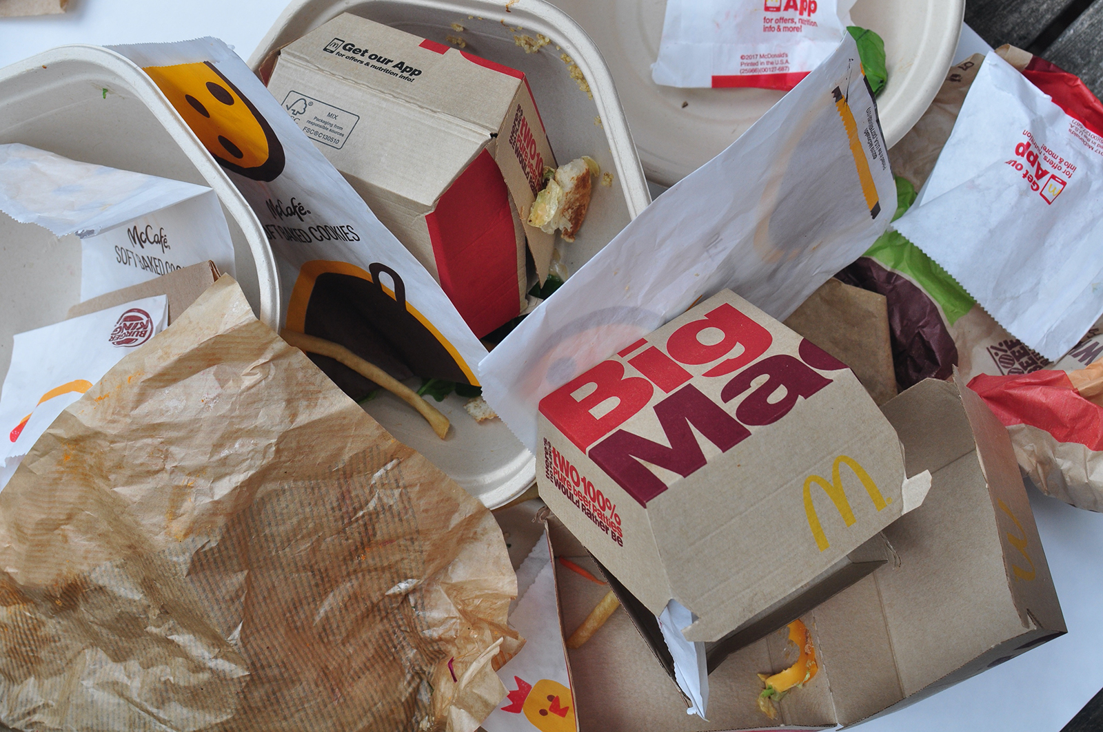 "A new report finds toxic chemicals called PFAS in the food packaging on fast food burgers at McDonald's and Burger King as well as on supposedly ""environmentally safe"" fiber take-out containers at other restaurants. (Mind the Store campaign/Toxic-Free Future)"