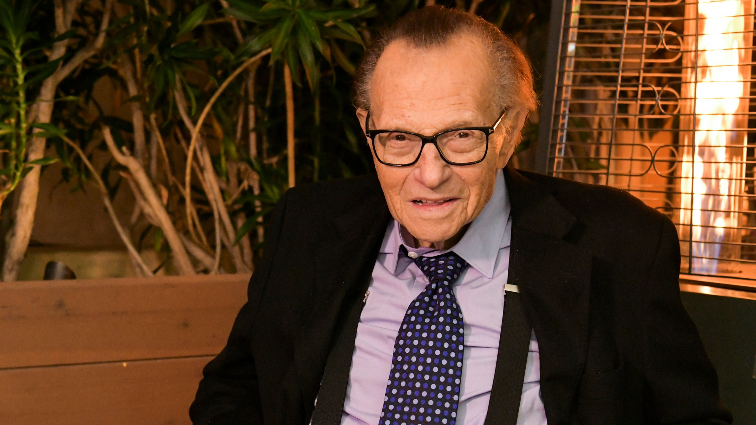 Larry King poses for portrait at Crescent Hotel on Nov. 25, 2019, in Beverly Hills. (Rodin Eckenroth/Getty Images via CNN)
