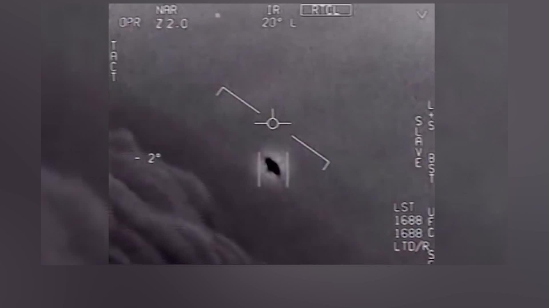 This image shows a possible UFO, according to U.S. officials. (U.S. Defense Department via CNN)