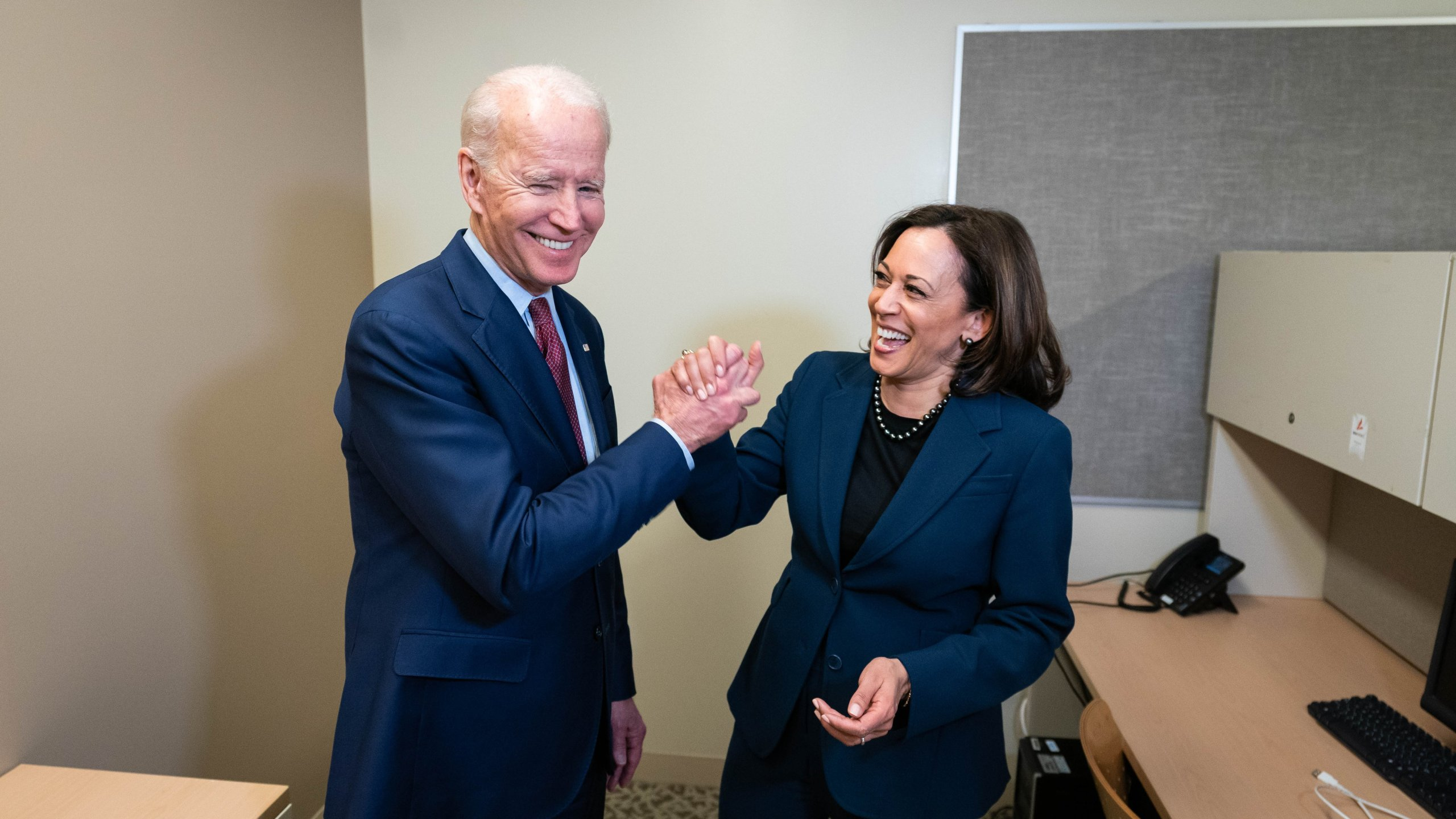 Joe Biden's Twitter account posted this image on Aug. 11, 2020 of the presumptive Democratic presidential nominee and his running mate, Sen. Kamala Harris.