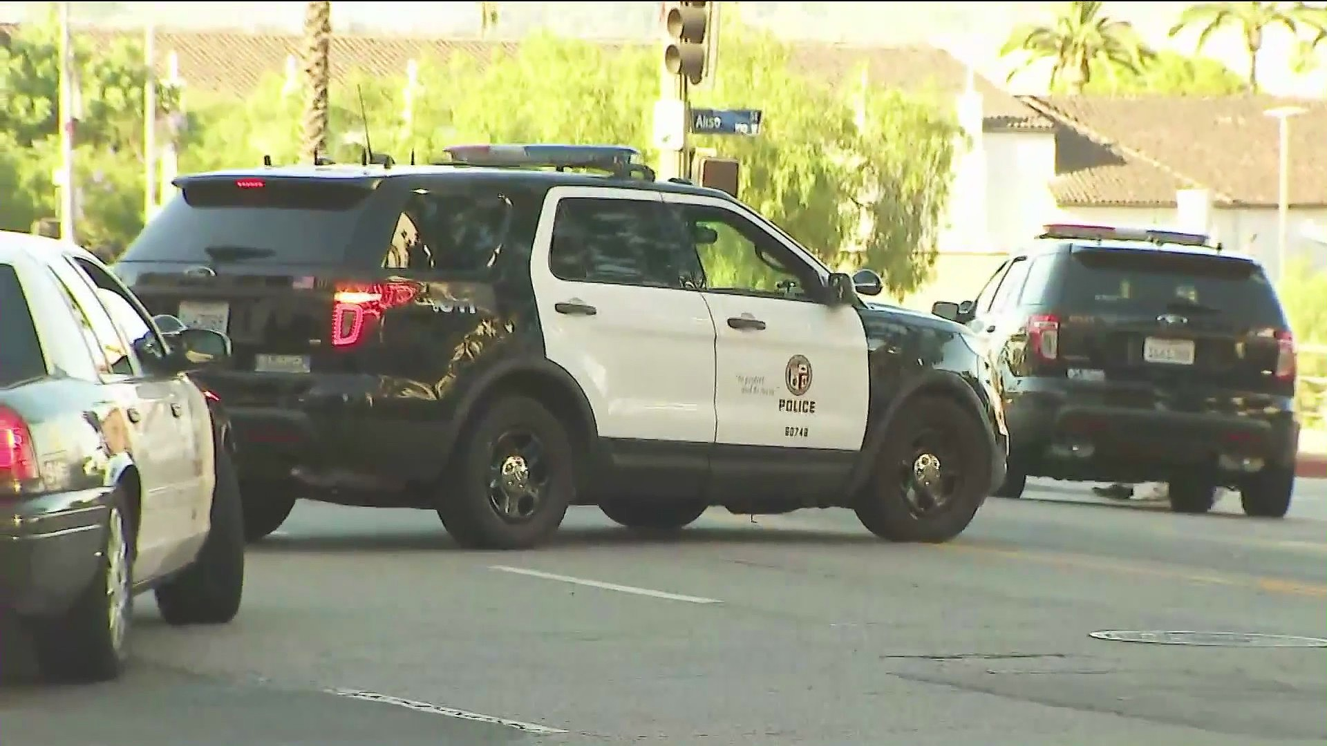 A Los Angeles Police Department vehicle is seen in this file image. (KTLA)