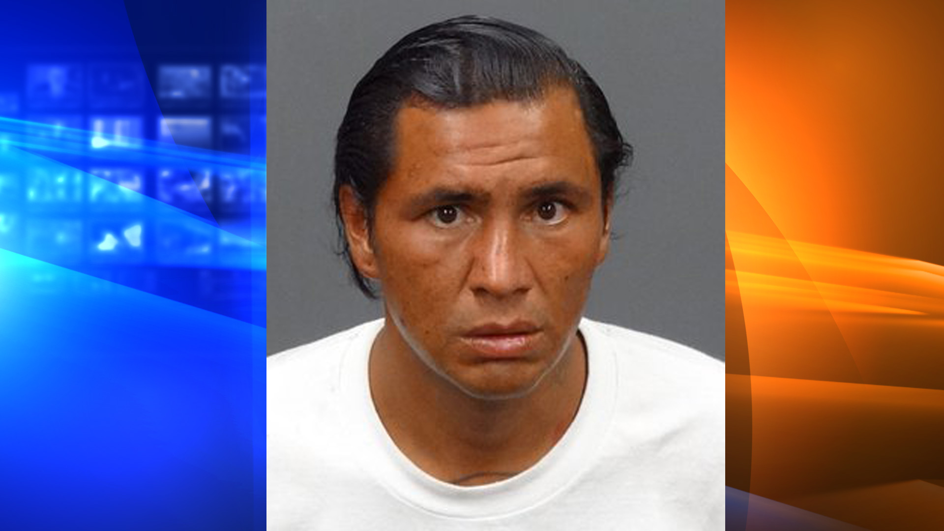 Edger Morelos is seen in a booking photo released by the Irwindale Police Department on Aug. 10, 2020.