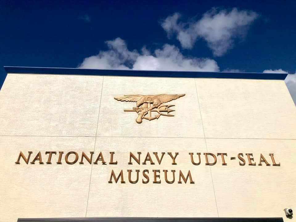 A sign for the Navy Seals Museum in Florida is seen in an image posted on the museum's Facebook page on July 30, 2020.