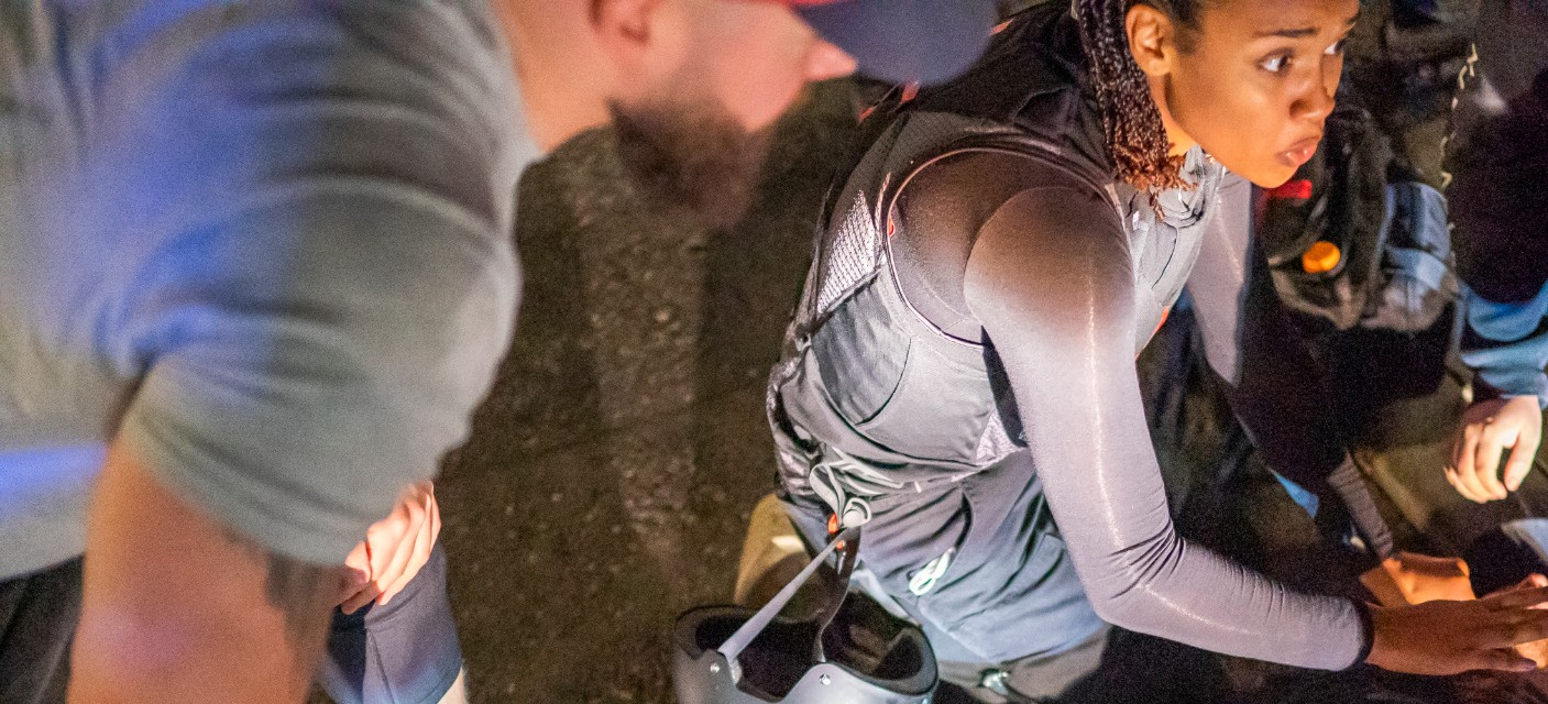 Street medics and protesters help to treat a man who was shot near a pro-Trump rally on Aug. 29, 2020, in Portland, Oregon. Far left counter-protesters and pro-trump supporters clashed that afternoon as a parade of cars carrying right wing supporters made their way from nearby Clackamas to Portland. (Nathan Howard/Getty Images)