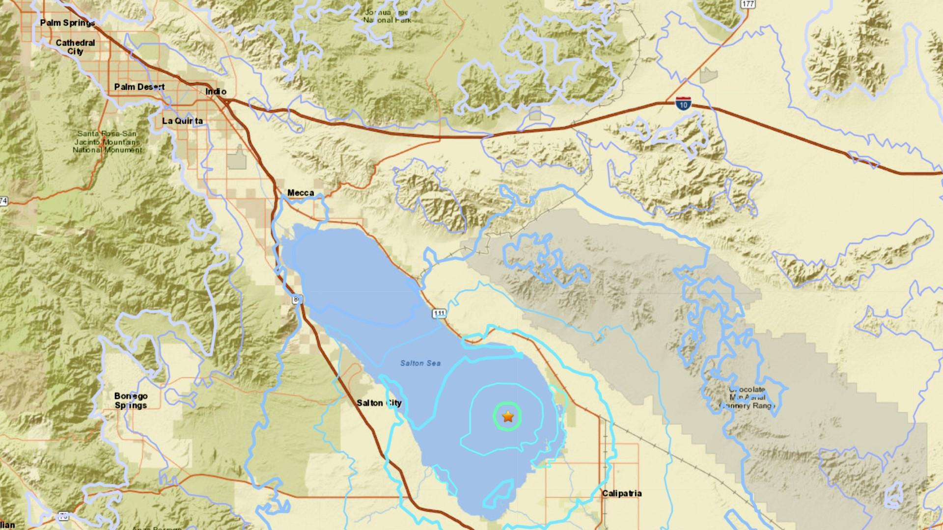 A 4.6 magnitude earthquake was reported at 8:56 a.m. 7 miles from Bombay Beach. (U.S. Geological Survey)