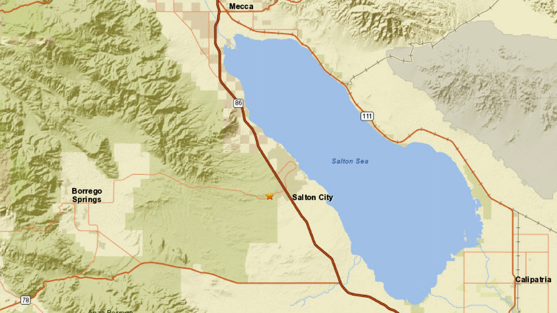 A 3.1 magnitude earthquake struck near La Quinta on Aug. 14, 2020. (U.S. Geological Survey)