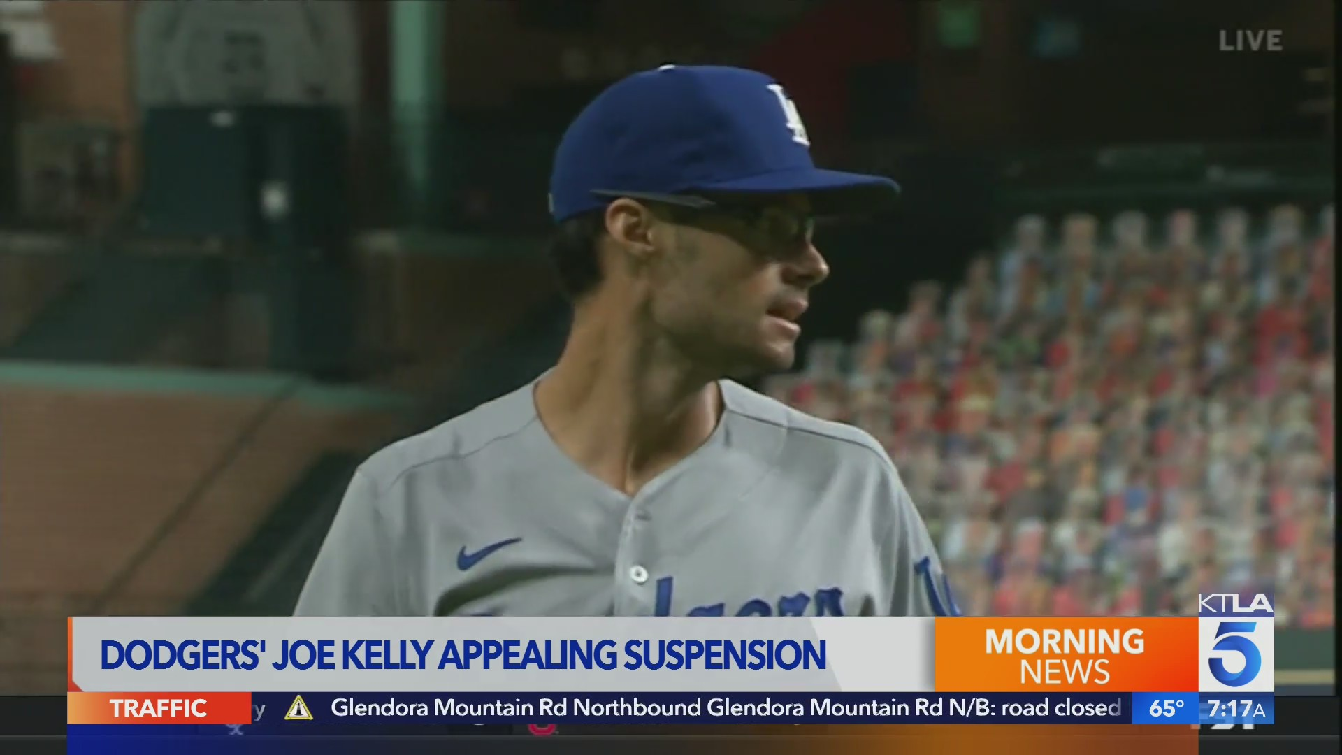 SPORTS TREVOR LANE ON JOE KELLY SUSPENSION