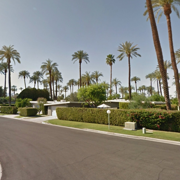 The 70000 block of Tamarisk Lane in Rancho Mirage is seen in a Google Maps Street View image.