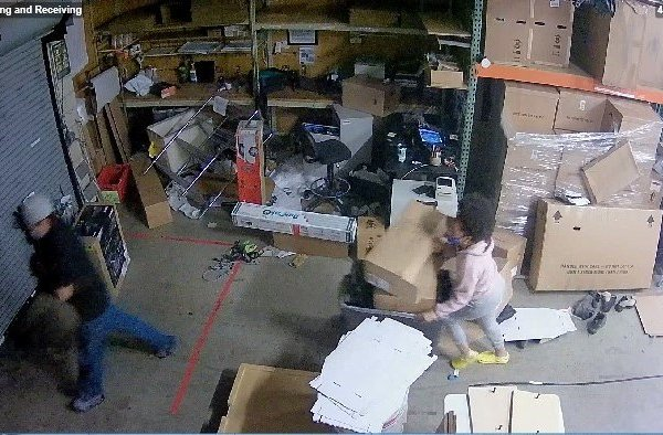 Two people were arrested on Sept. 17, after police found about $2,500 worth of stolen property that they believe is related to looting incidents that took place in Santa Monica on May 31. (Santa Monica Police Department)