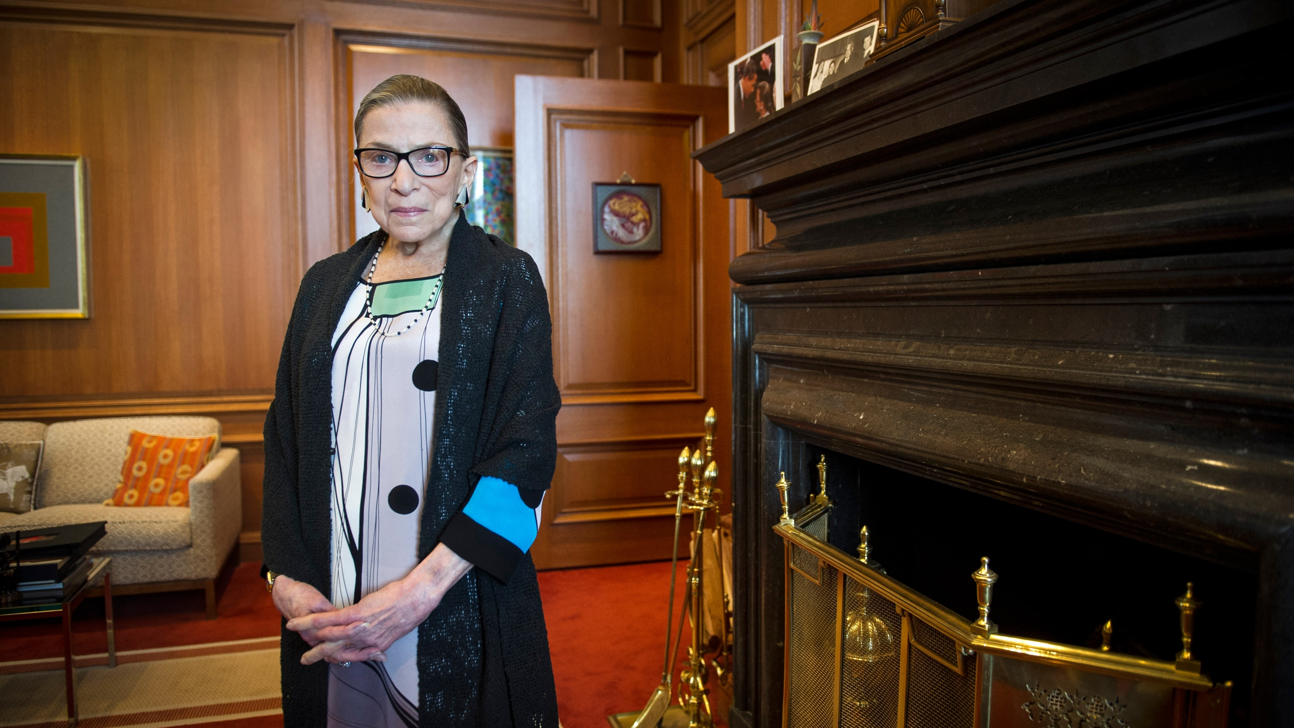 Associate Justice Ruth Bader Ginsburg is seen in her chambers in at the Supreme Court in Washington on July 31, 2014. (Cliff Owen / Associated Press)