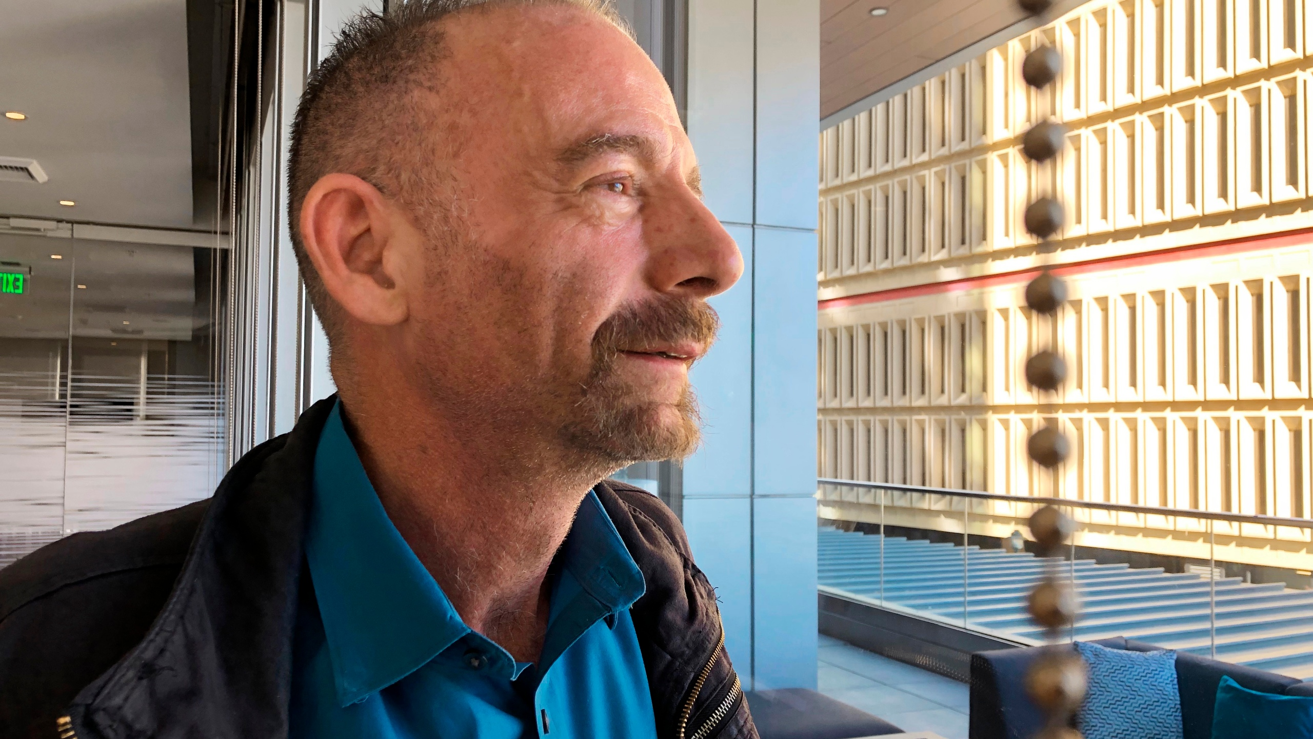 This March 4, 2019 file photo shows Timothy Ray Brown in Seattle. (AP Photo/Manuel Valdes, File)