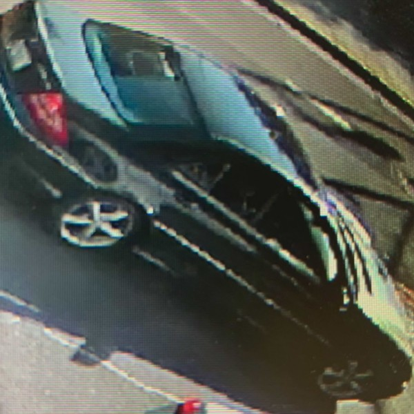LAPD released this image of a Mercedes-Benz involved in a hit-and-run crash in Chinatown on Sept. 4, 2020.