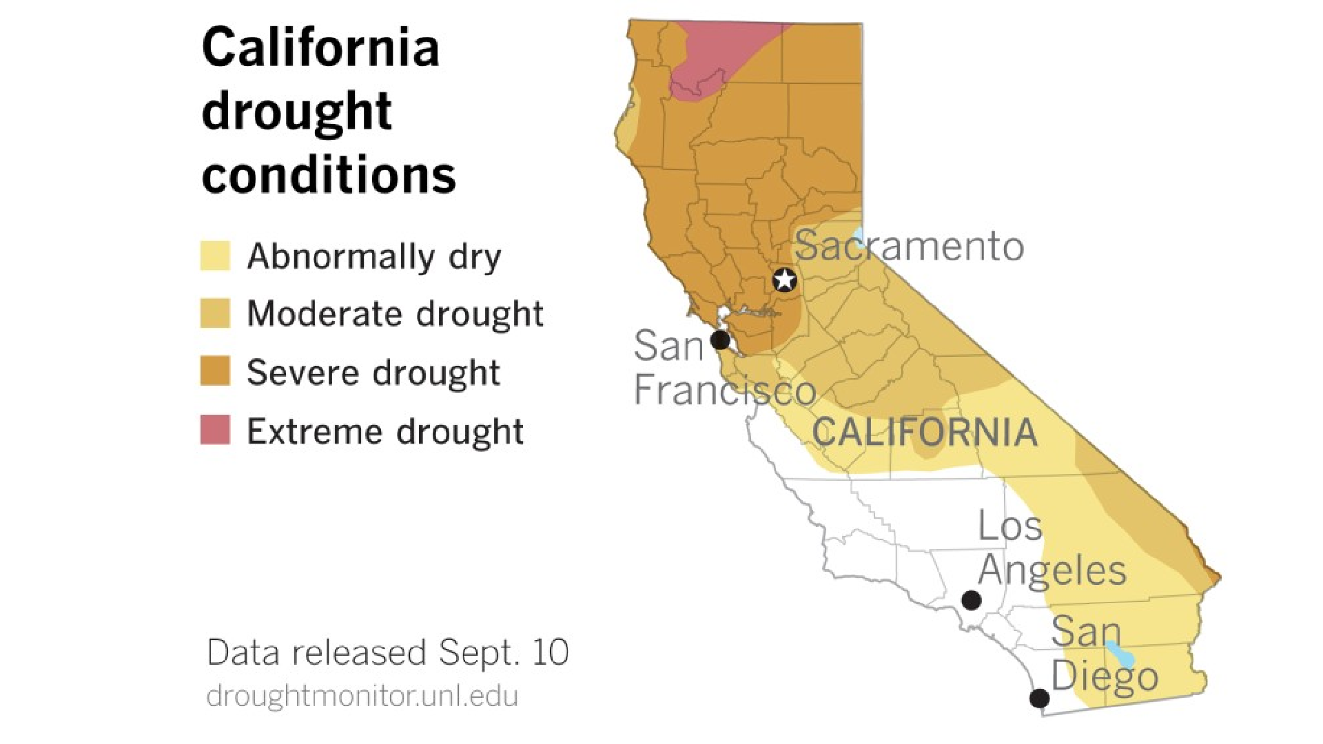 Drought conditions continue to expand in California.(Paul Duginski / Los Angeles Times)