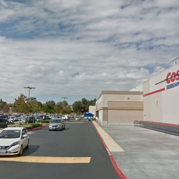 The Costco parking lot in Vista is seen in a Google Maps image.