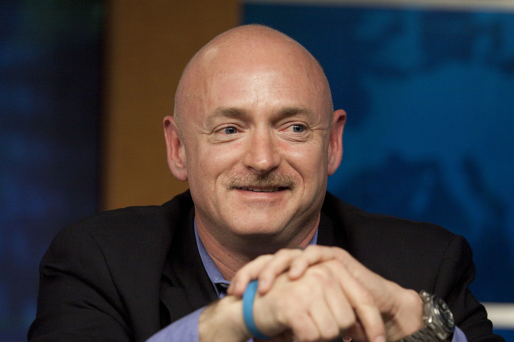 Mark Kelly, astronaut and husband of Rep. Gabrielle Giffords (D-AZ), talks about his plans for the upcoming shuttle mission at the Johnson Space Center Feb. 4, 2011 in Houston, Texas. (Eric Kayne/Getty Images)