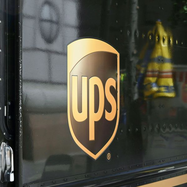 A UPS truck sits on a street in Washington, DC June 11, 2019. (EVA HAMBACH/AFP via Getty Images)