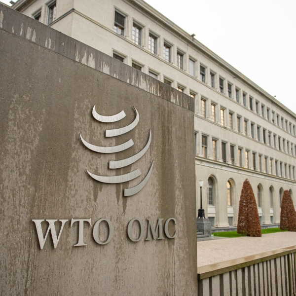 The headquarters of the World Trade Organization is seen on Dec. 11, 2019 in Geneva, Switzerland. (Robert Hradil/Getty Images)