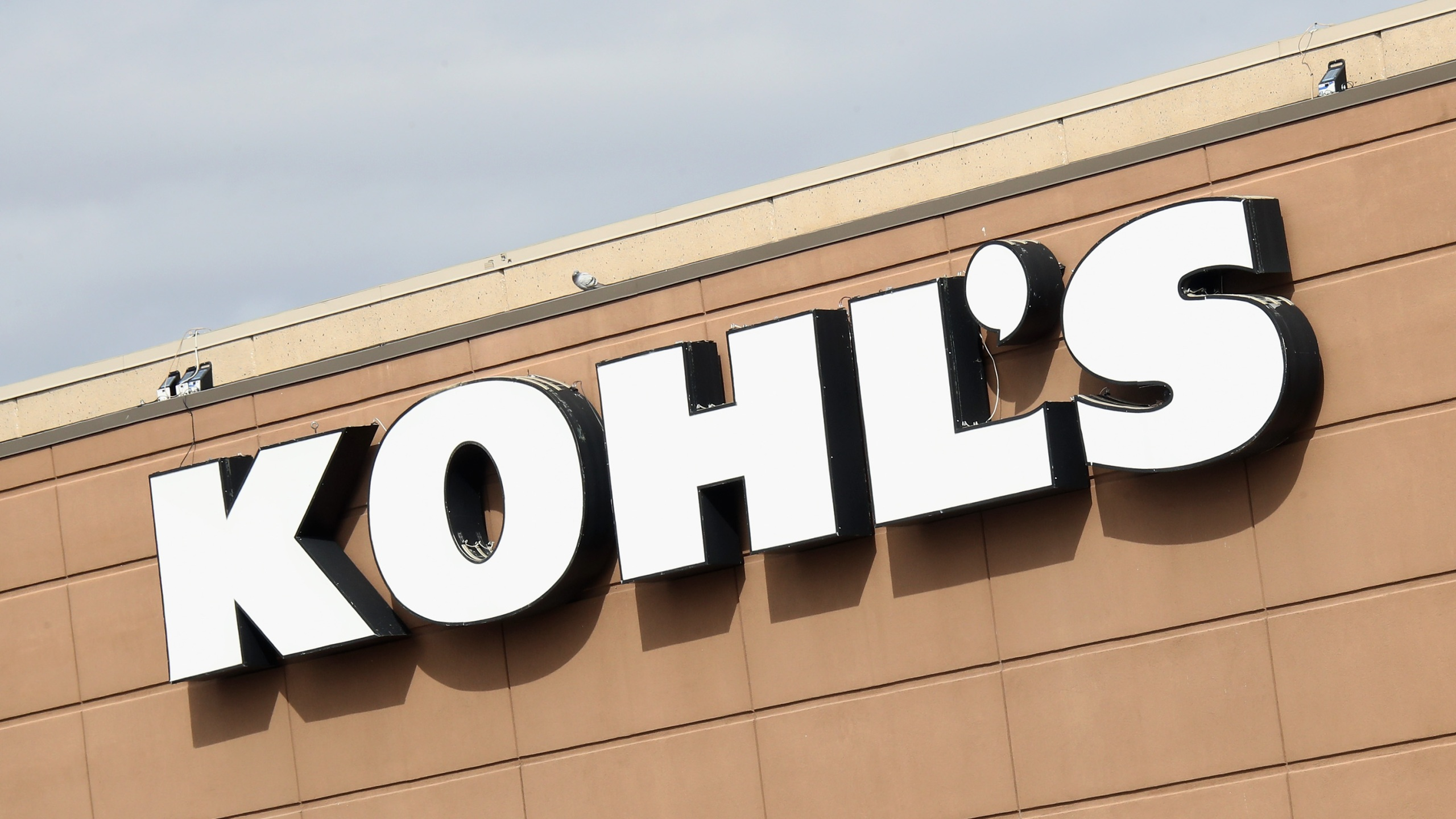 An image of the sign for Kohl's as photographed on March 16, 2020 in Levittown, New York. (Bruce Bennett/Getty Images)