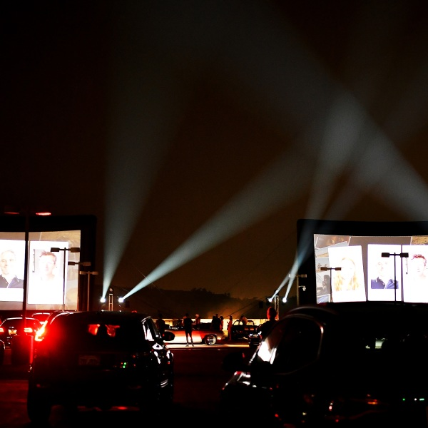 Guests attend the HBO Max Drive-In Premiere of Unpregnant on Sept. 9, 2020 in Glendale. (Amy Sussman/Getty Images for HBO Max)