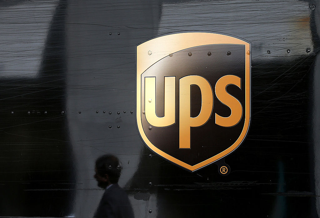 A UPS truck in San Francisco on June 17, 2014. (Justin Sullivan / Getty Images)