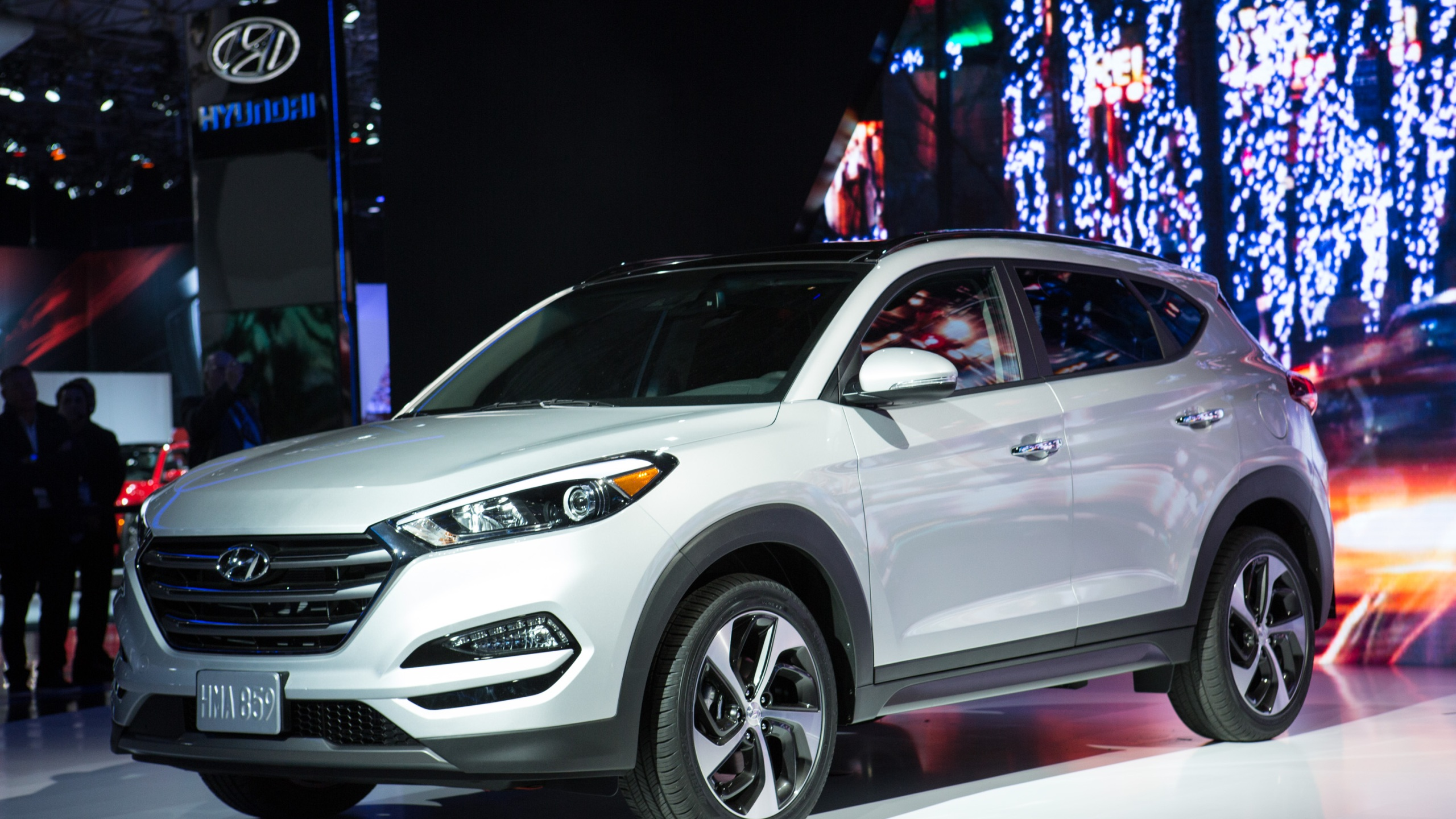 Hyundai Motor America introduces the new Tucson model at the New York International Auto Show at the Javits Center on April 1, 2015 in New York City. (Kevin Hagen/Getty Images)