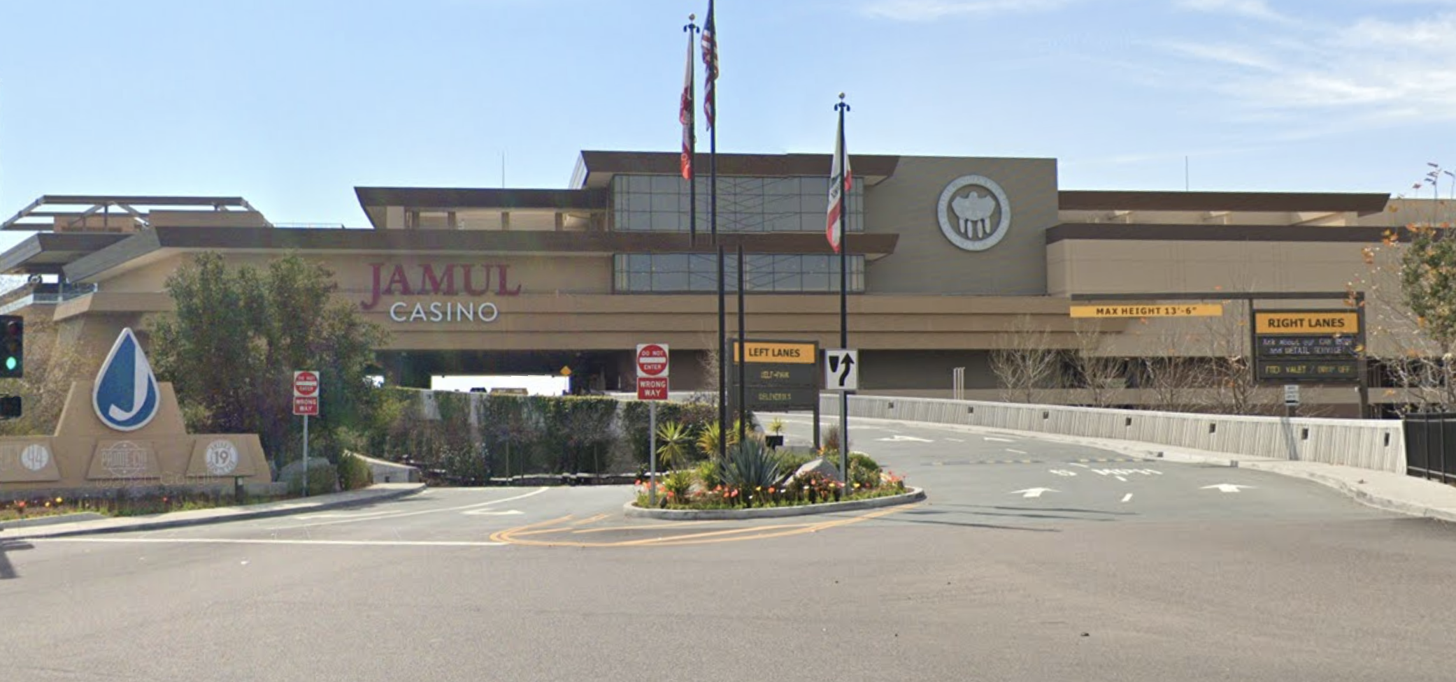 The Jamul Casino on the Jamul Indian Reservation is seen in an undated Google Maps street view photo.