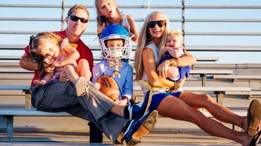 Costa Mesa High School football coach Jimmy Nolan and his family are seen in an undated photo. (GoFundMe)