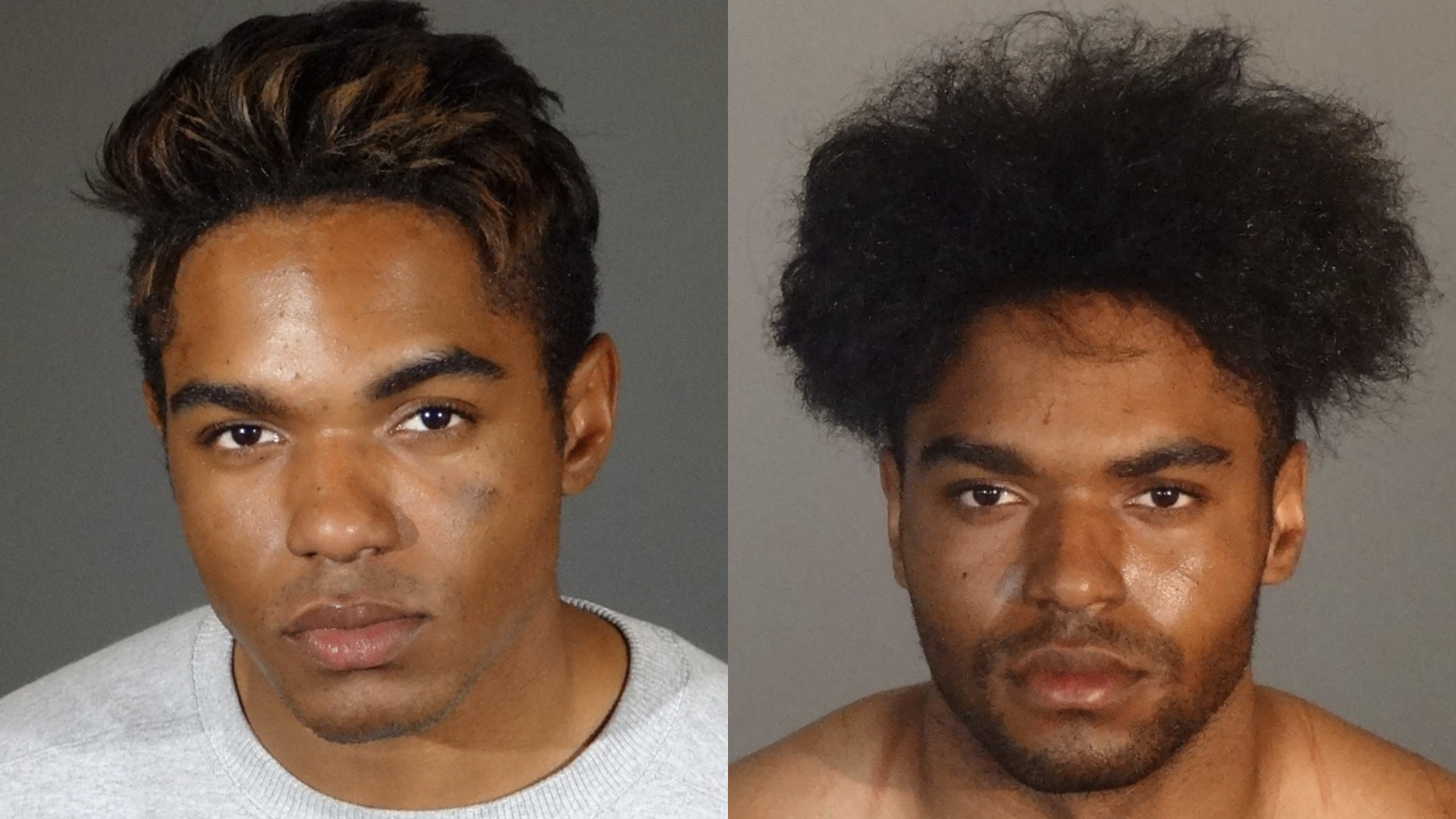 Princeton Bloome is seen in a pair of photos provided by the Los Angeles Police Department.