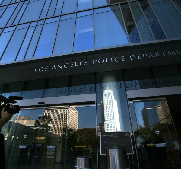 The LAPD headquarters appears in an undated photo. (Bob Chamberlin / Los Angeles Times)