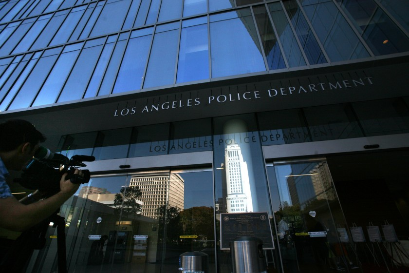 The LAPD appears in an undated photo. (Bob Chamberlin / Los Angeles Times)
