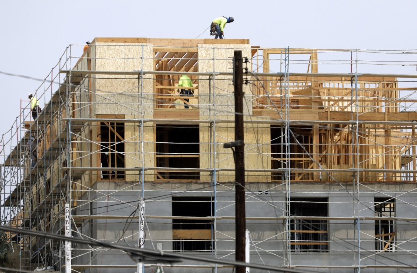 A 49-unit project for homeless and disabled veterans under construction in Lake View Terrace has hit a construction cost of $739,000 a unit.(Myung J. Chun/Los Angeles Times)