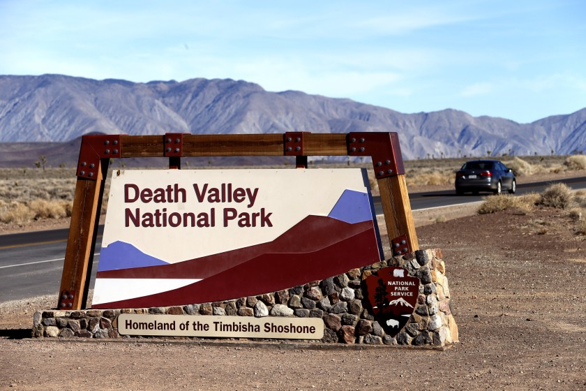 "The fourth hottest summer in Death Valley history is drawing visitors interested in ""heat tourism.""(Mark Boster / Los Angeles Times)"