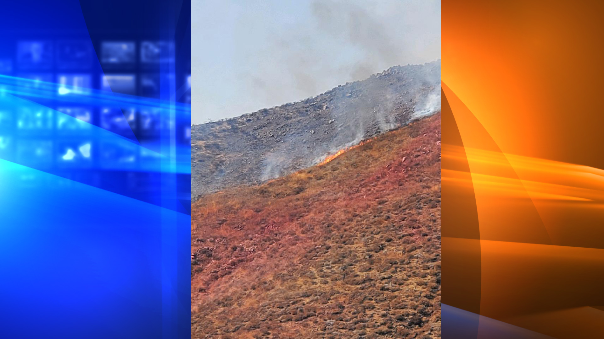 Cal Fire Riverside tweeted a photo of a vegetation fire on Sept. 29, 2020, near Lake Mathews and Perris.