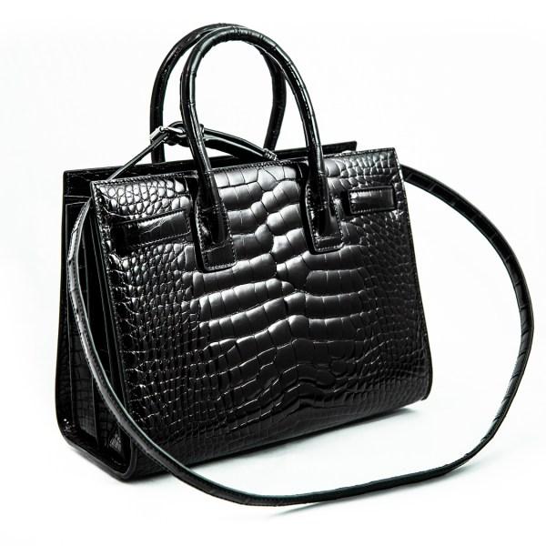 Australian customs officials destroyed the Saint Laurent alligator-skin handbag, worth $19,000. (Government of Australia)