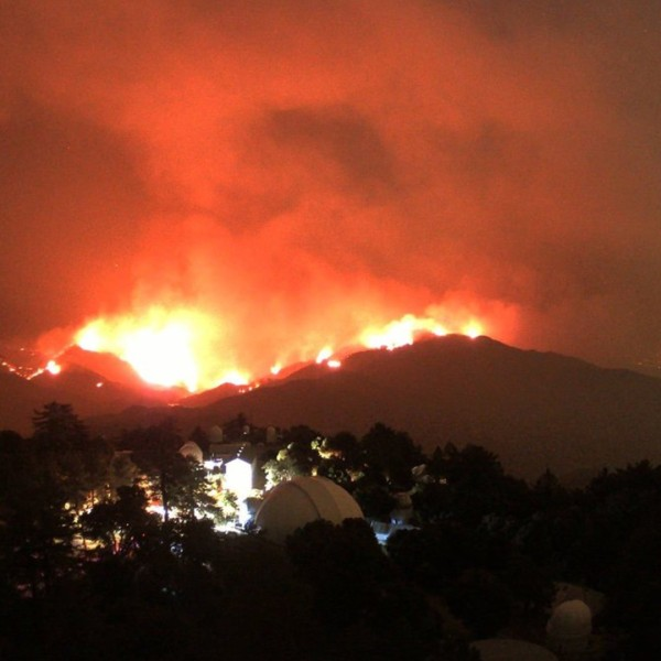 The Bobcat Fire is seen from Mount Wilson on Sept. 7, 2020. (Mount Wilson Observatory)