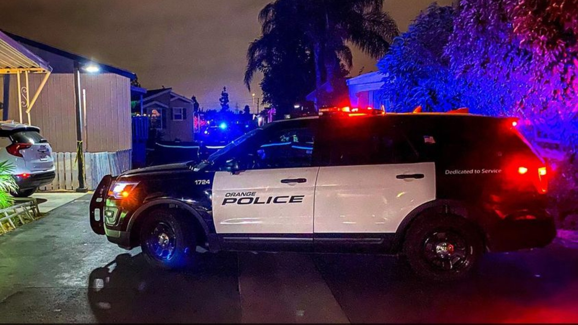 An Orange Police Department vehicle is seen in a photo on the agency's Facebook page.